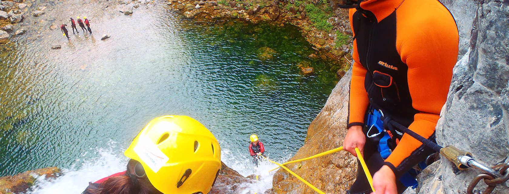 Canyoning Abseilen 3